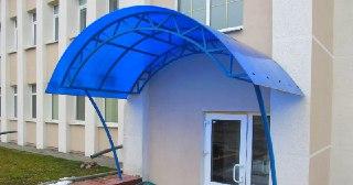 Козырек из поликарбоната Симферополь цена от 4582 руб.