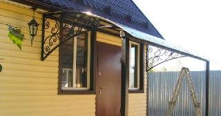 Козырек над домом Симферополь цена от 6180 руб.